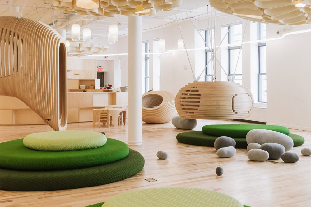 BIG's New York City school for WeWork encourages interaction and play