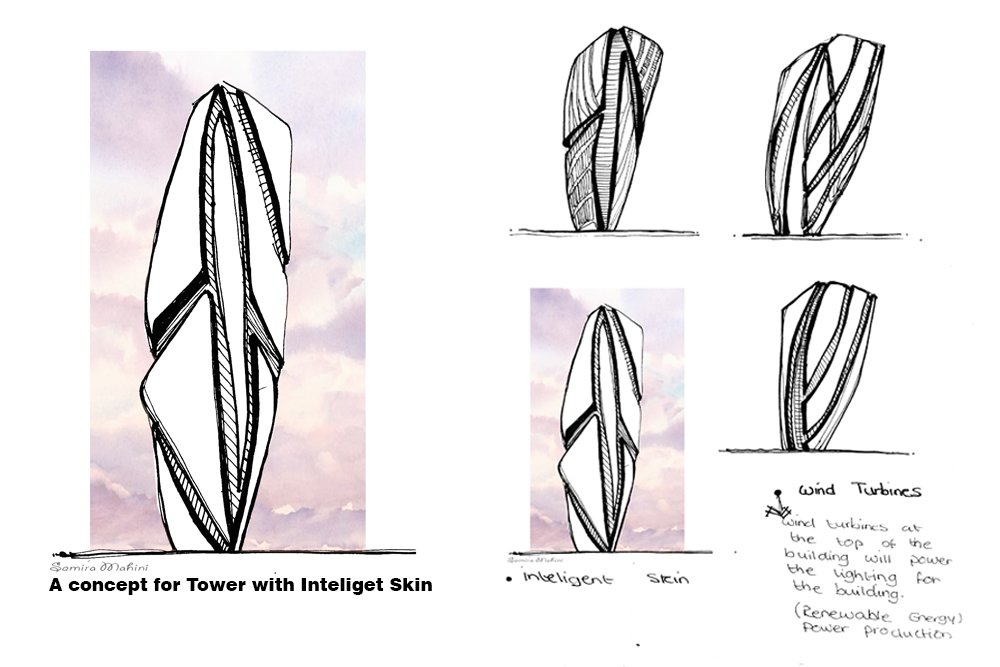 A Tower with inteligent skin