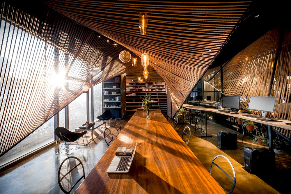 Rope Wave Office / ten-arch + Usual Studio